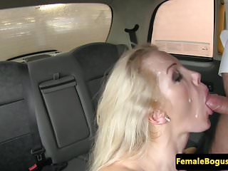 Preview 6 of Busty taxi driver doggystyled in cab