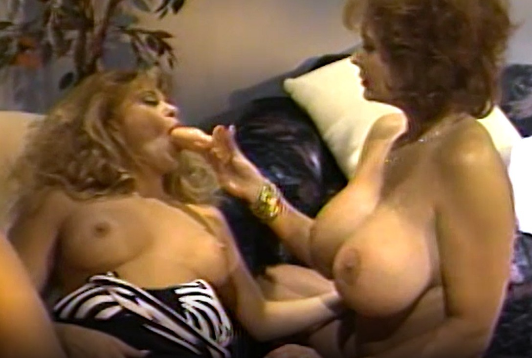 Lesbian Busty Babes 80's Fingering