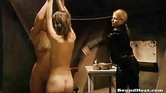Blonde Slaves Tied Up And Whipped Together