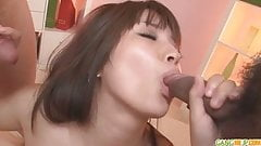 Hinata japanese girl blow job and creampie fucking