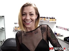 Leah Luv Fucking and getting Tattoo at the same time