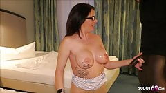 German Wife Dacada Fuck Huge Cock Black Callboy in Hotel