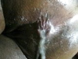 Wife pushing out cum and gummy butterflies candy