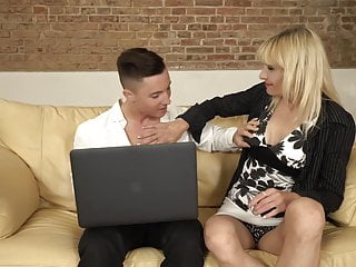 Mature mothers seduce and fuck lucky sons