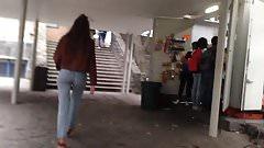 Cute sexy ass in jeans, culo hermoso de universitaria