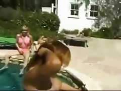 Poolboy gangbanged