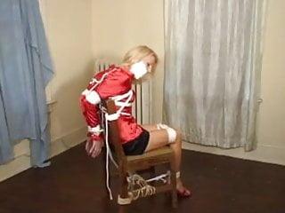 Pretty milf chairtied