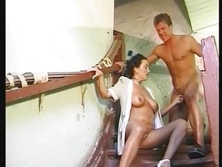 German Saggy Tits MILF Anastasia Fucked Pissen