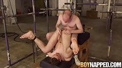 Edged bitch eats his own precum before being allowed to cum
