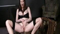 British slut Holly frigs herself in FF Stockings again