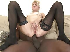 Granny fucked hard in her ass by black guy she gets creampie's Thumb