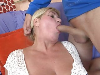 Big breasted mama fucking hard with not her son