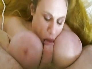 Sweet plump redhead mom with giant saggy boobs