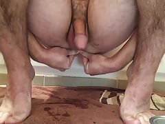Stuffing my hole with giant plug