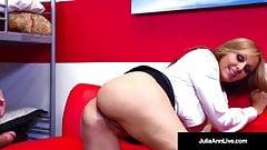 Horny Milf Tutor Julia Ann Bangs Her Student Until He Cums!