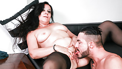 LETSDOEIT - it`s very HOT  Italian Cougar Seduces Younger Stud
