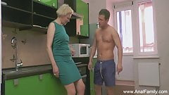 Short Hair Blonde Sister Deep Anal