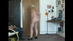 Naked dancing on her 69th birthday