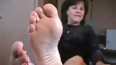 Foot-Smelling Instructions by Mature Western Hazel-Blonde