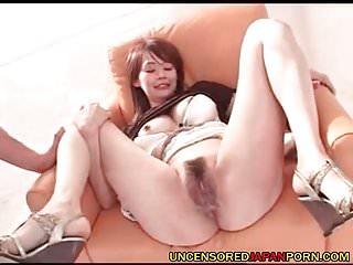 Uncensored Japanese MILF Porn Mom sucking and fucking