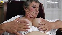 Black grandma tits