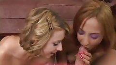 Lexi Belle and Veronique Vega suck cock