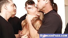 Young bombshell Carter Cruise facialized after blowbang