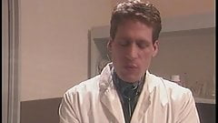 Doctor gets his massive cock sucked by hot brunette babe