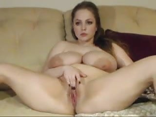 More of Big titted curvy woman masturbate on cam