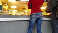 Thin sexy blonde's ass