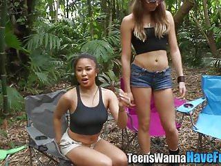 Amateur teens facialized