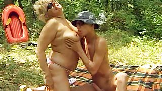 German BBW Granny Craves Young Dick