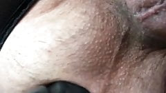 Crossdress Anal toy while driving