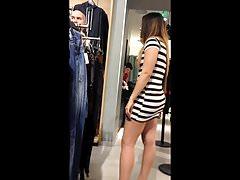 Sexy Mexican teen shopping spy
