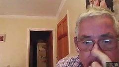 Handsome British Grandpa playing