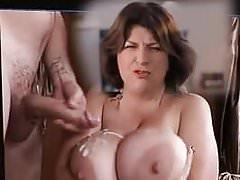 Caroline Quentin cum on big tits