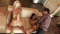 Lucky Dude Fucks THREE Fucking Sexy Ladies!