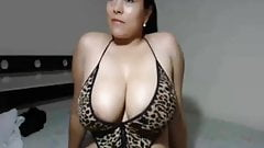 Very big breasted babe with super giant tits