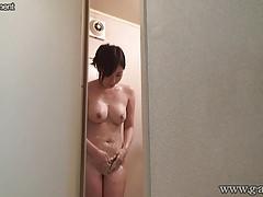 Busty Japanese Girl Aya Sakurai in the Shower