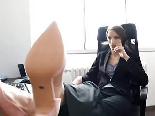 Sexy colleague foot worship fantasy