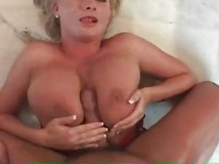 Huge Cumshot On Her Face And Tits