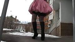 Stockings Upskirt Upstair