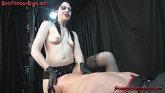 Strapon pegging femdom for a lucky male slave