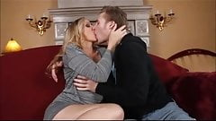 Blonde milf screws big cock