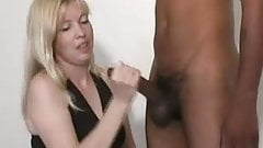 Jerked Off By A Tall Blonde CFNM