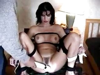 Milf tied tits - Milf tied up and to orgasm