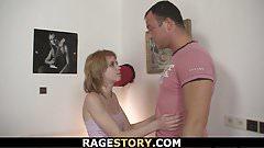 He fucks her rough and hard