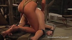 The Submissive: Strap-on Punishment,Shaving And Masturbation