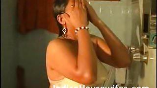 Hot Indian Bhabhi Taking Shower In Lingerie