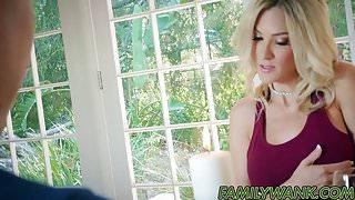 Hot blonde stepmother Blake Morgan seduces her stepson